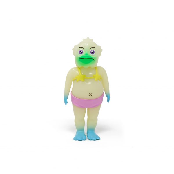 A photo of the Glow in the Dark Colorway Duck Man, facing forward