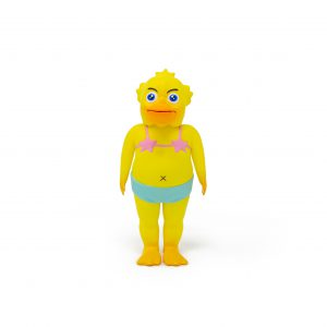 A photo of the Yellow Colorway Duck Man, facing forward